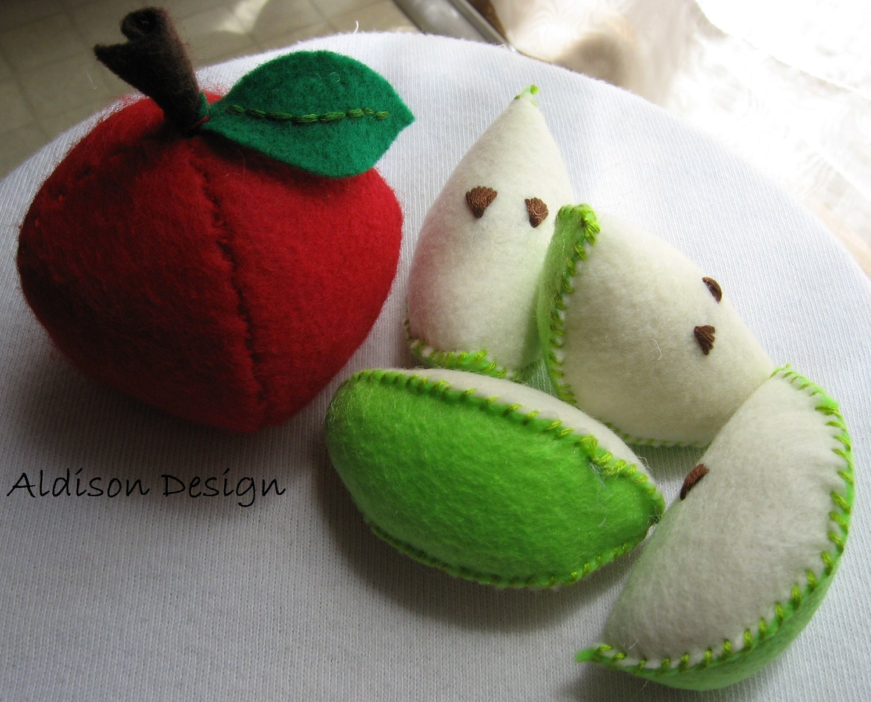 Refreshing Apple Felt Food Set
