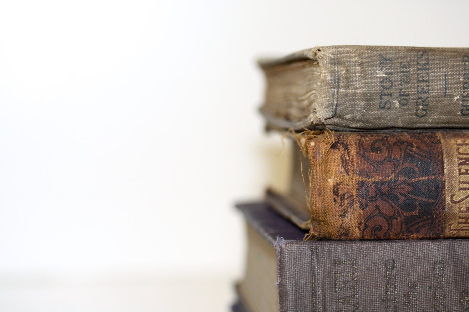 Shabby Chic Book Collection Faded Lilac Brown Tones Wedding Photography Prop  TREASURY ITEM - jaysworld