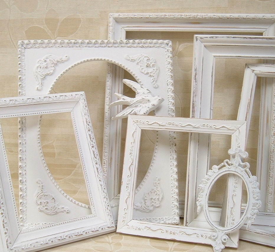 White Shabby Chic Picture Frames | 570 x 522 · 84 kB · jpeg