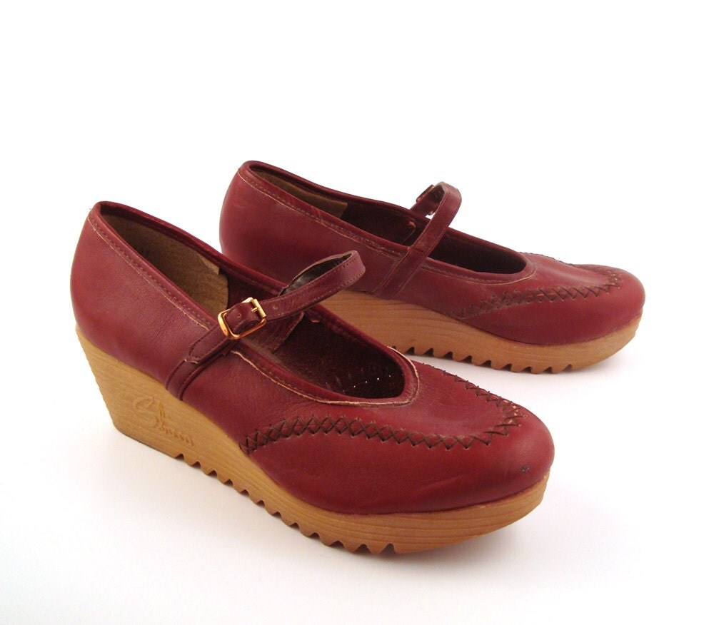 sbicca wedge shoes vintage 1970s s by
