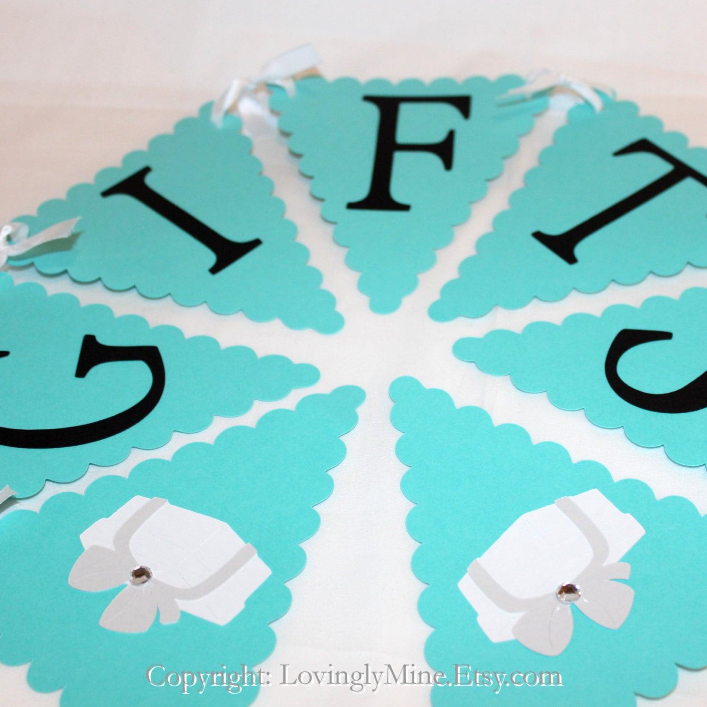 Tiffany Baby Gifts Australia : Baby shower gift banner sign by lovinglymine on etsy