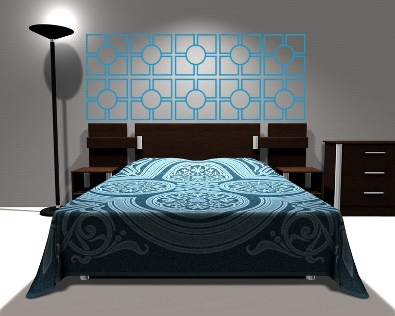 Wall Decals In Dorms : Wall decal geometric headboard dorm decor by wallstargraphics