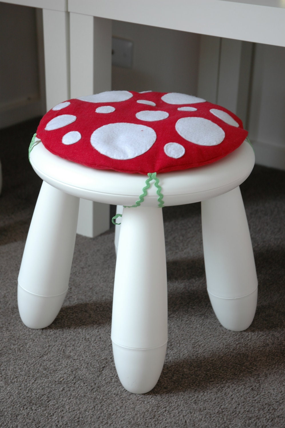 Items similar to toadstool cushion red children kids cushion for ikea mammut stool chair on etsy - Ikea mammut stuhl ...