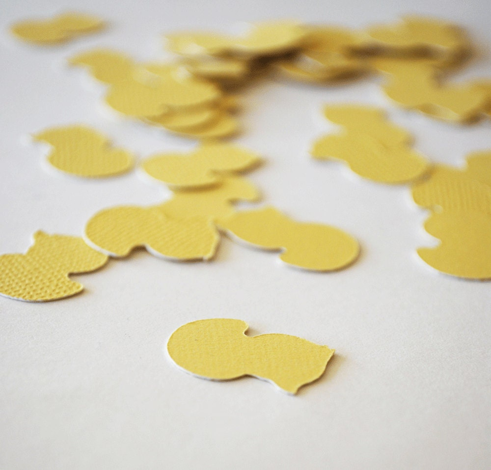 Lemon Yellow Rubber Ducky Die Cuts Set of 40 by Your Little Cupcake - YourlittleCupcake