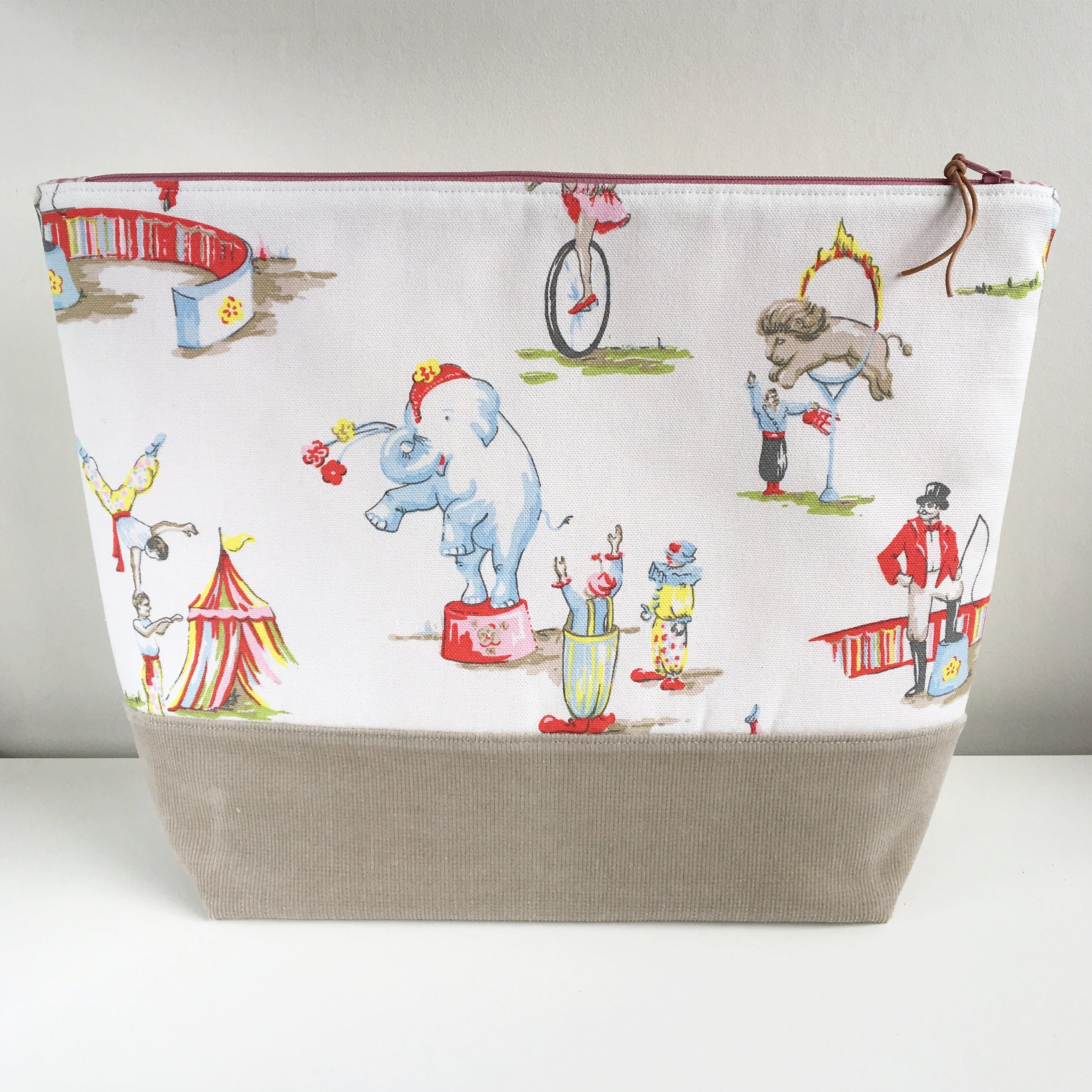EXTRA LARGE Project Bag  Cath Kidston When the Circus Comes to Town