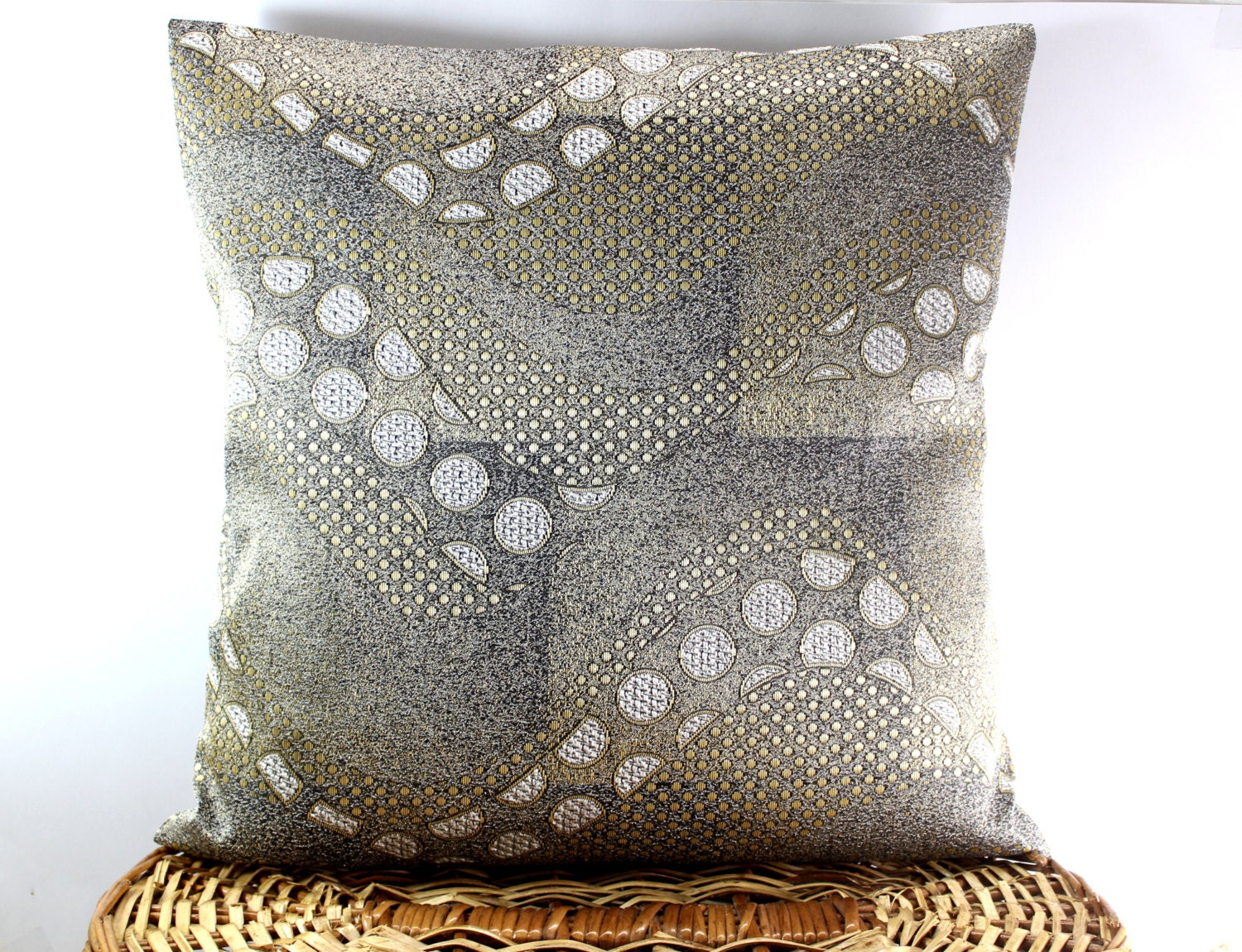 Items similar to Rock Textured Decorative throw Pillow Cover 16 x 16, Stone Grey Pillow ,Accent ...