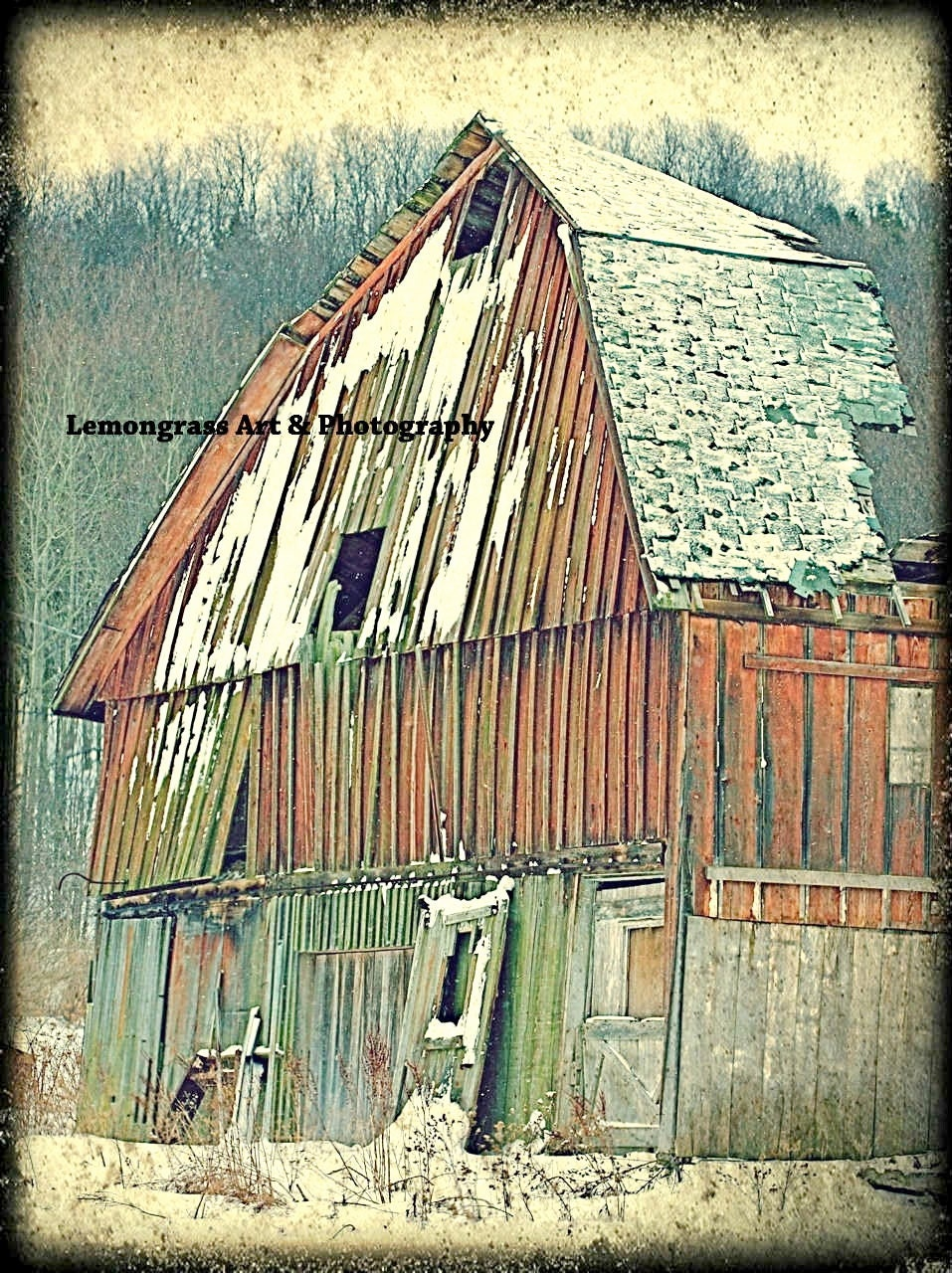 "Country Farmhouse Decor Old Barn Fine Art Print ""Still Standing"" 6 x 8 Plus 9x12, 12x16, 30x40 - LemongrassArt"