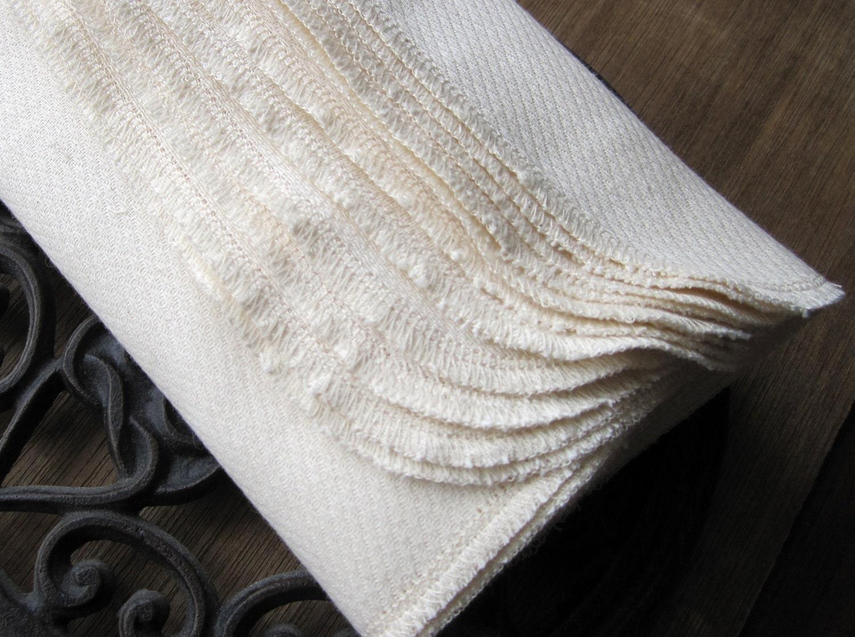 Reusable Unpaper Towel -- Organic Birdseye Unbleached Cotton Eco Friendly -- Set of 12
