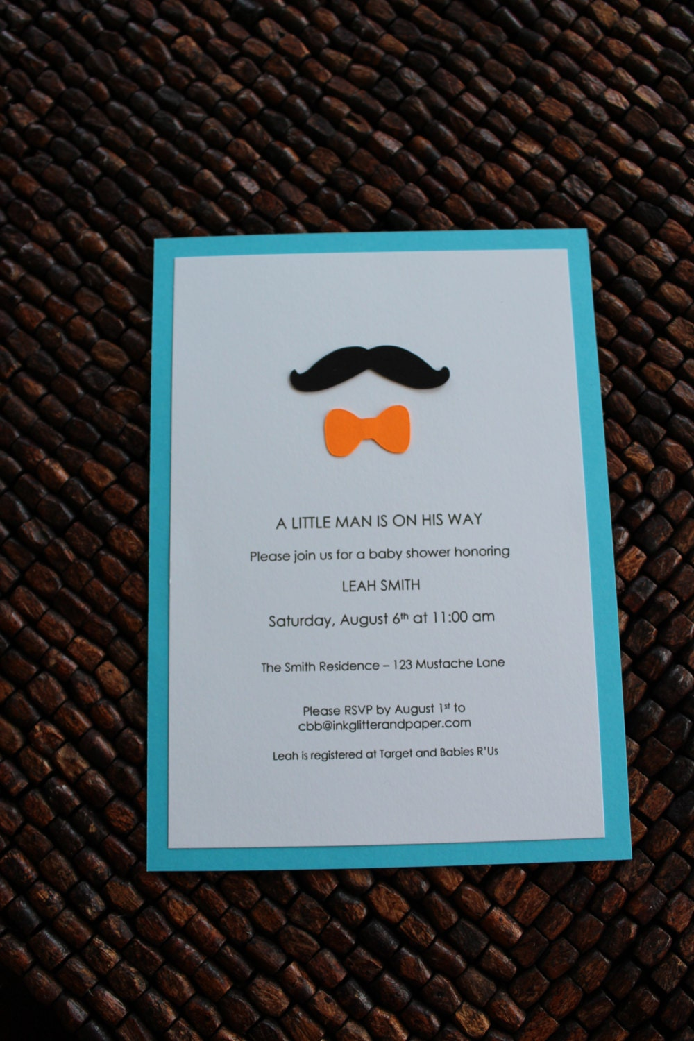 items similar to mustache and bow tie baby shower invitation on etsy