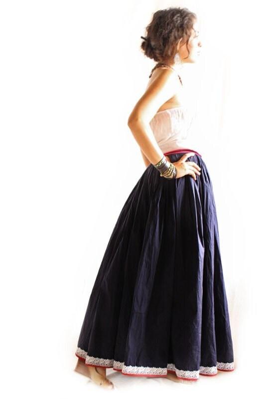 casaazul mexican maxi dress skirt by