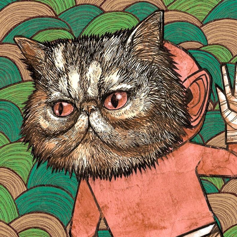 Cat Boy Fine Art Cat Poster
