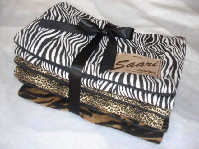 Baby Burp Cloth Animal Print Trio