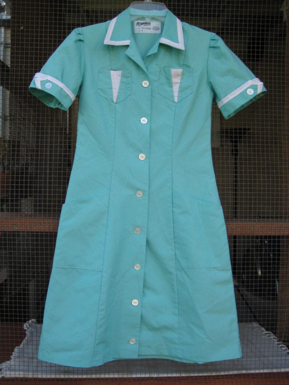 Twin Peaks Diner Dress Retro Dress Green Dress Mint