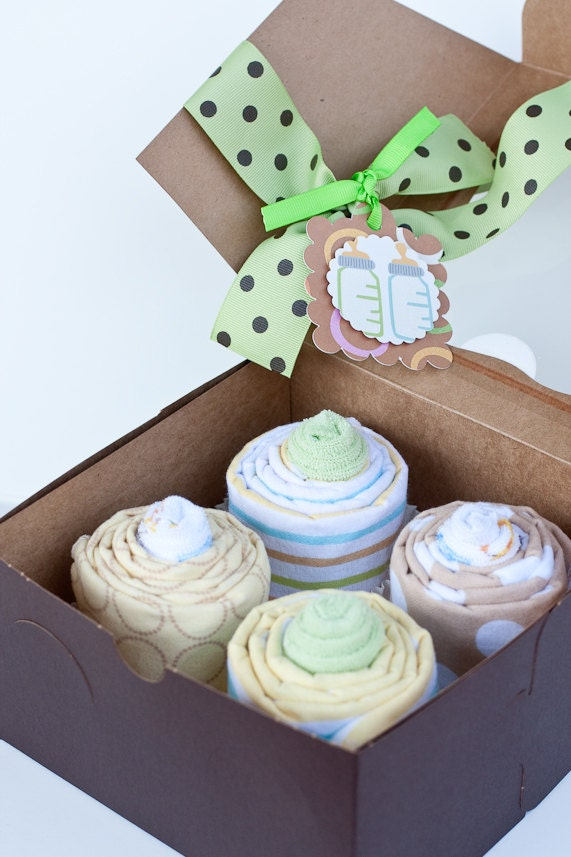 Beautiful On Sale Gender Neutral Baby Shower Gift Receiving Blanket Cupcakes. 10 ...