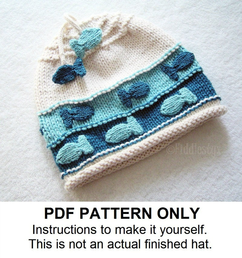 Knit Hat Knitting Pattern Fish Hat Pattern by ...