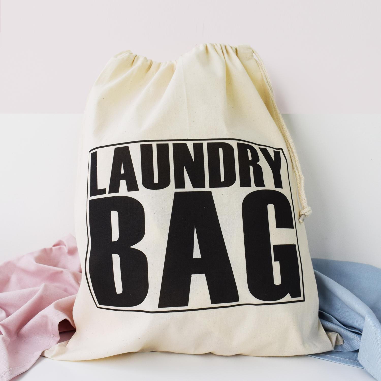 Home And Travel Laundry Bag Big text Laundry Bag Drawcord Cotton Bag Kids Room Storage Bag 100 Cotton