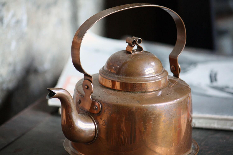 Vintage Copper Teapot Made In Sweden Gottfrid By Onedecember