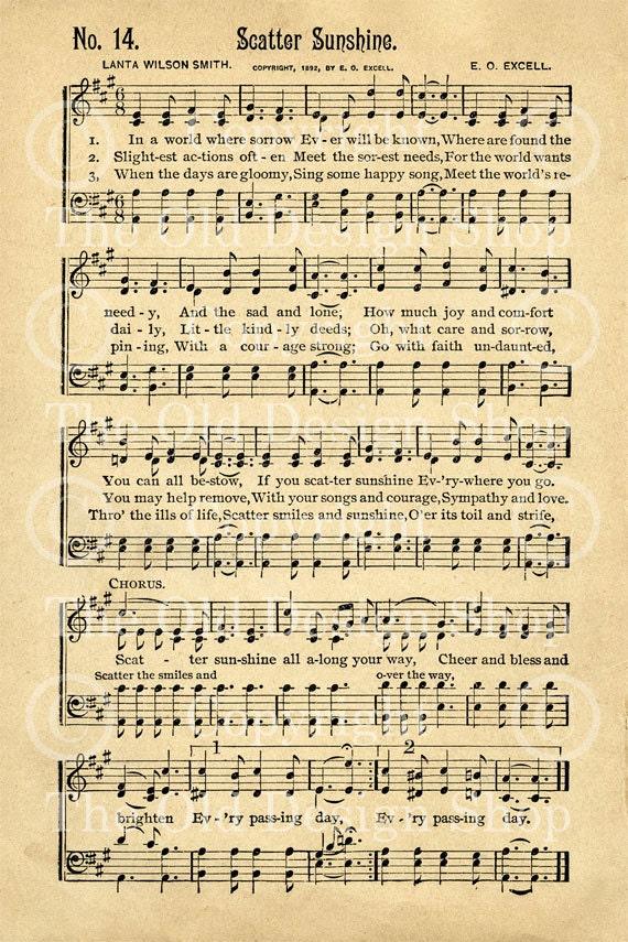 You Are My Sunshine Sheet Music Free