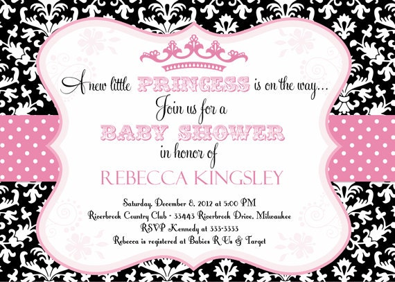 Free Printable Princess Baby Shower Invitations absolutely amazing ideas for your invitation example