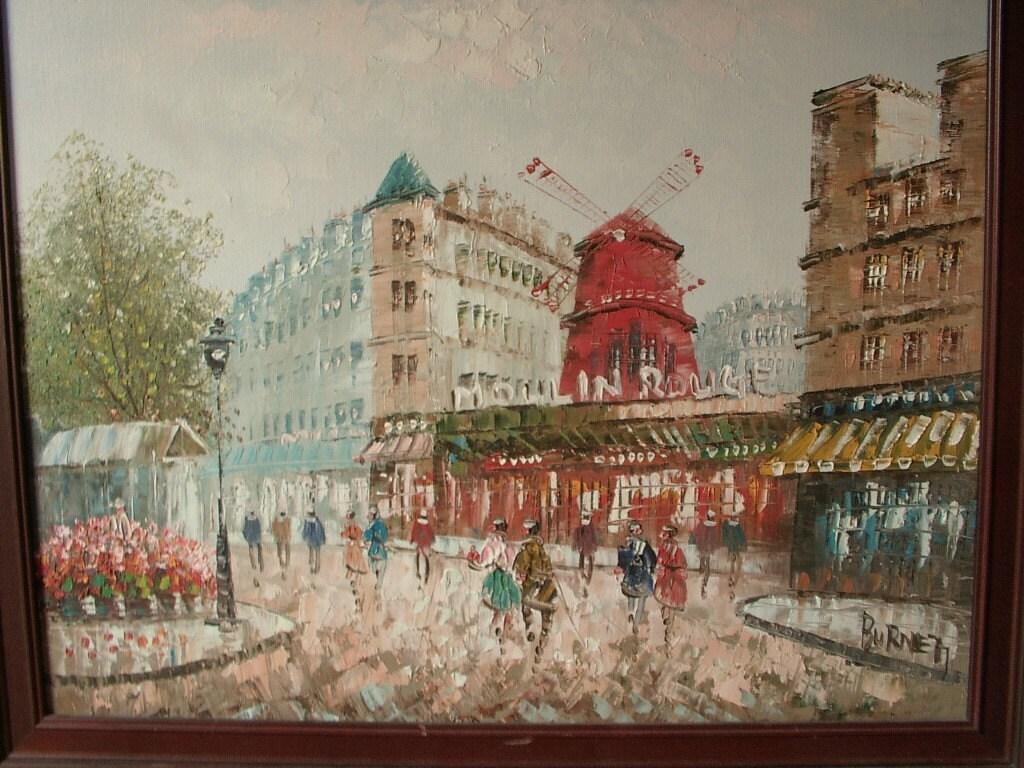 Moulin Rouge Oil Painting Burnett