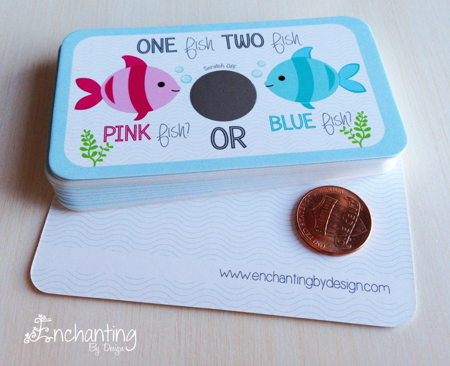 One fish two fish pink fish or blue fish by enchantingbydesign for Fishing gender reveal