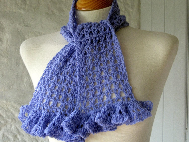 Gorgeous Lavender V Stitch Crochet Ruffle Scarf von Thesunroomuk ...