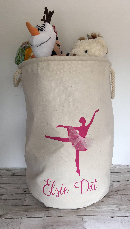 Personalised Ballerina storage bag toy storage laundry bag