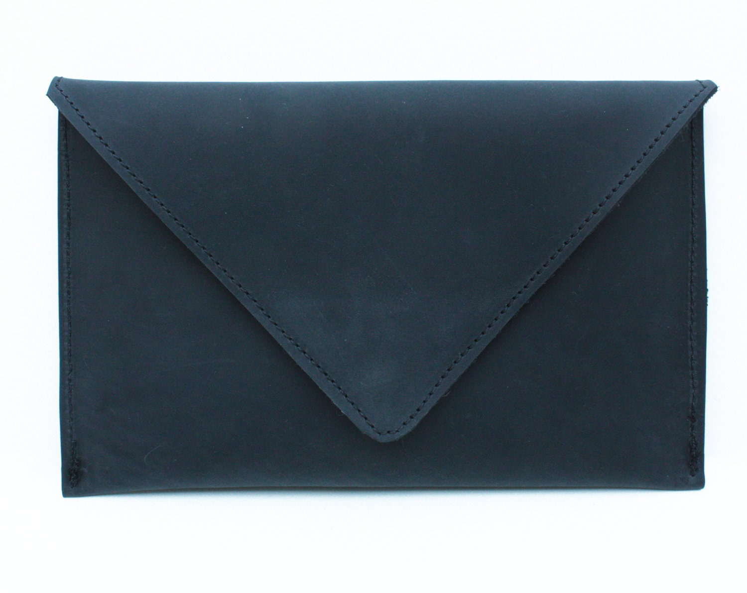Leather iPad Mini Case, Black Leather iPad Mini Sleeve, Leather Envelope iPad Mini Clutch, Leather Envelope iPad Mini