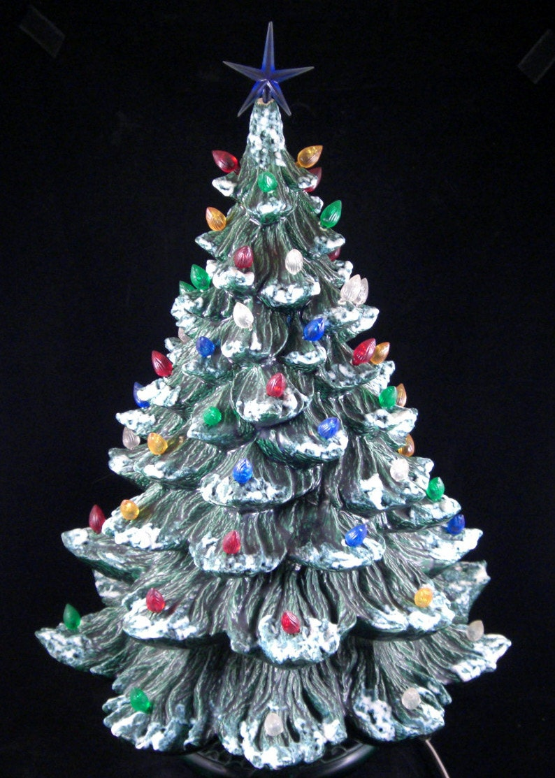 Ceramic Lighted Christmas Trees