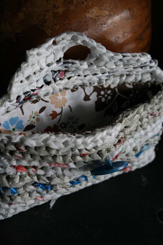 Вязаные сумки пластиковые сумки