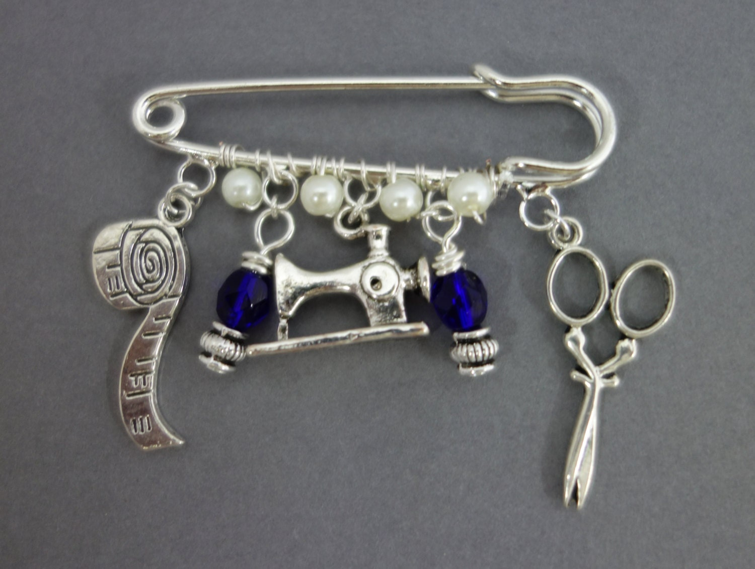 Sewing Charm brooch sewing enthusiasts brooch charm brooch Christmas stocking filler present