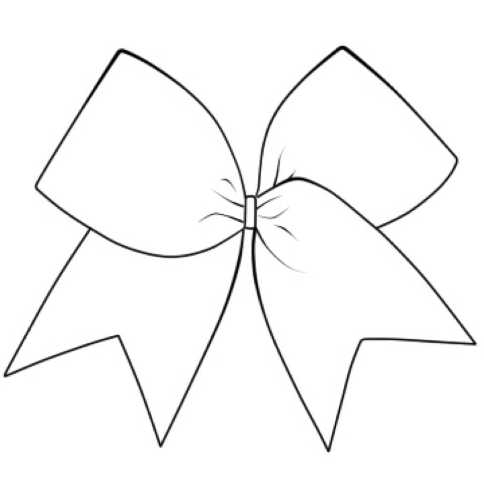 Cheer Bow Outline Drawing Sketch Coloring Page