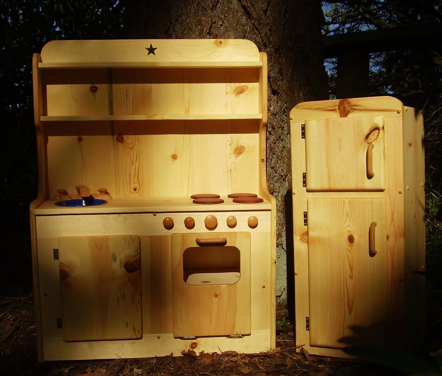 Wooden Play Kitchen set by Heartwood natural toys