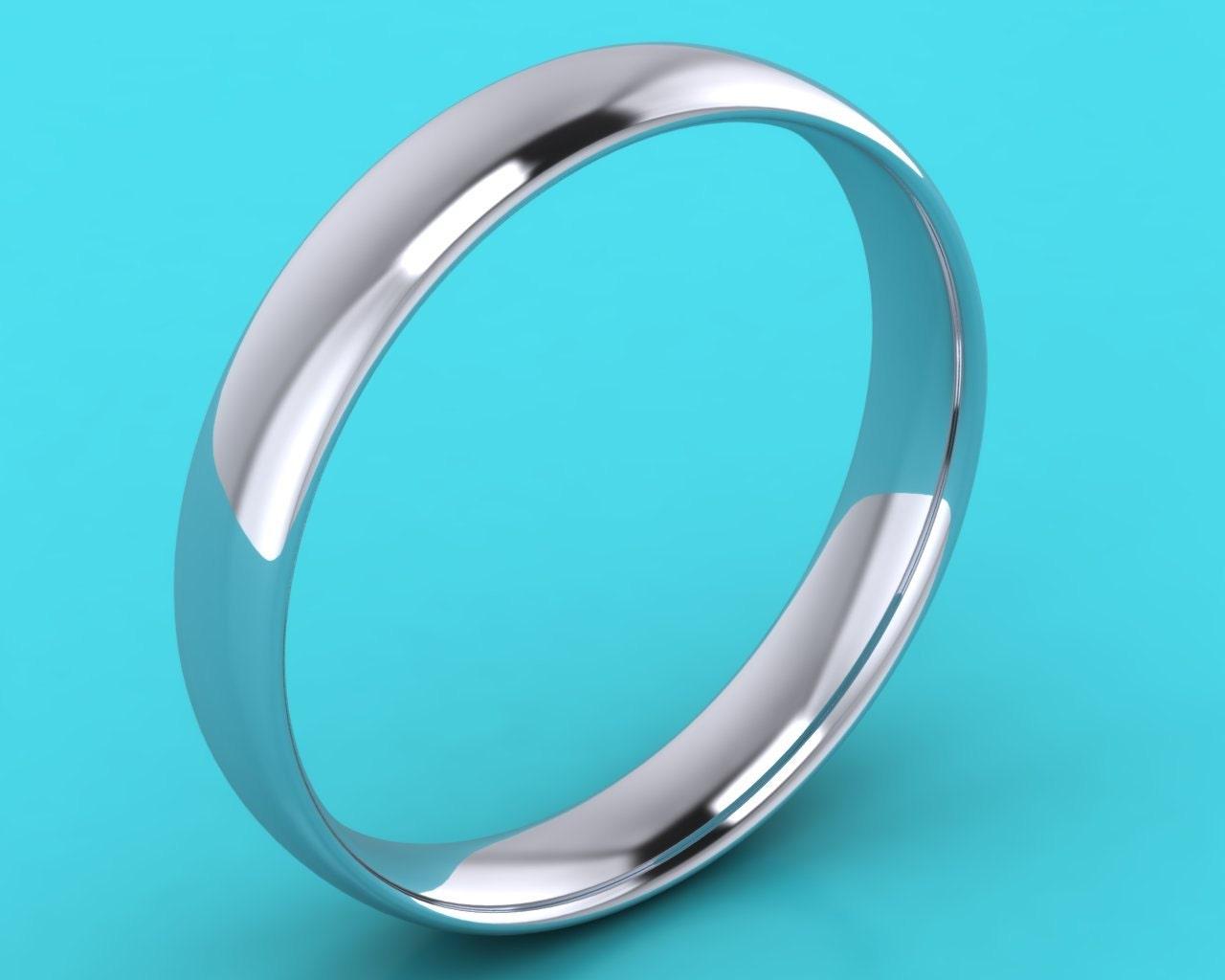 PLATINUM 4mm mens light weight court   4mm Wedding Band wedding  4mm wedding Ring  anniversary   engagement ring hatton garden