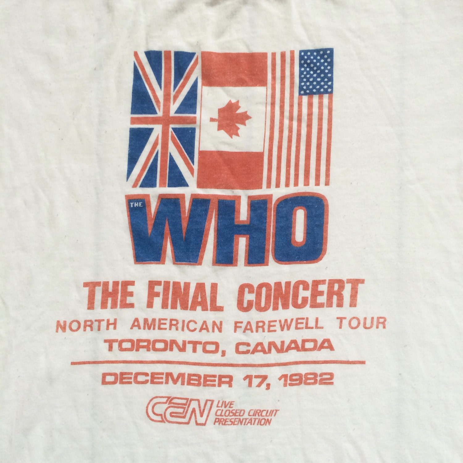 Original The Who 1982 North American Farewell tour Vintage t shirt