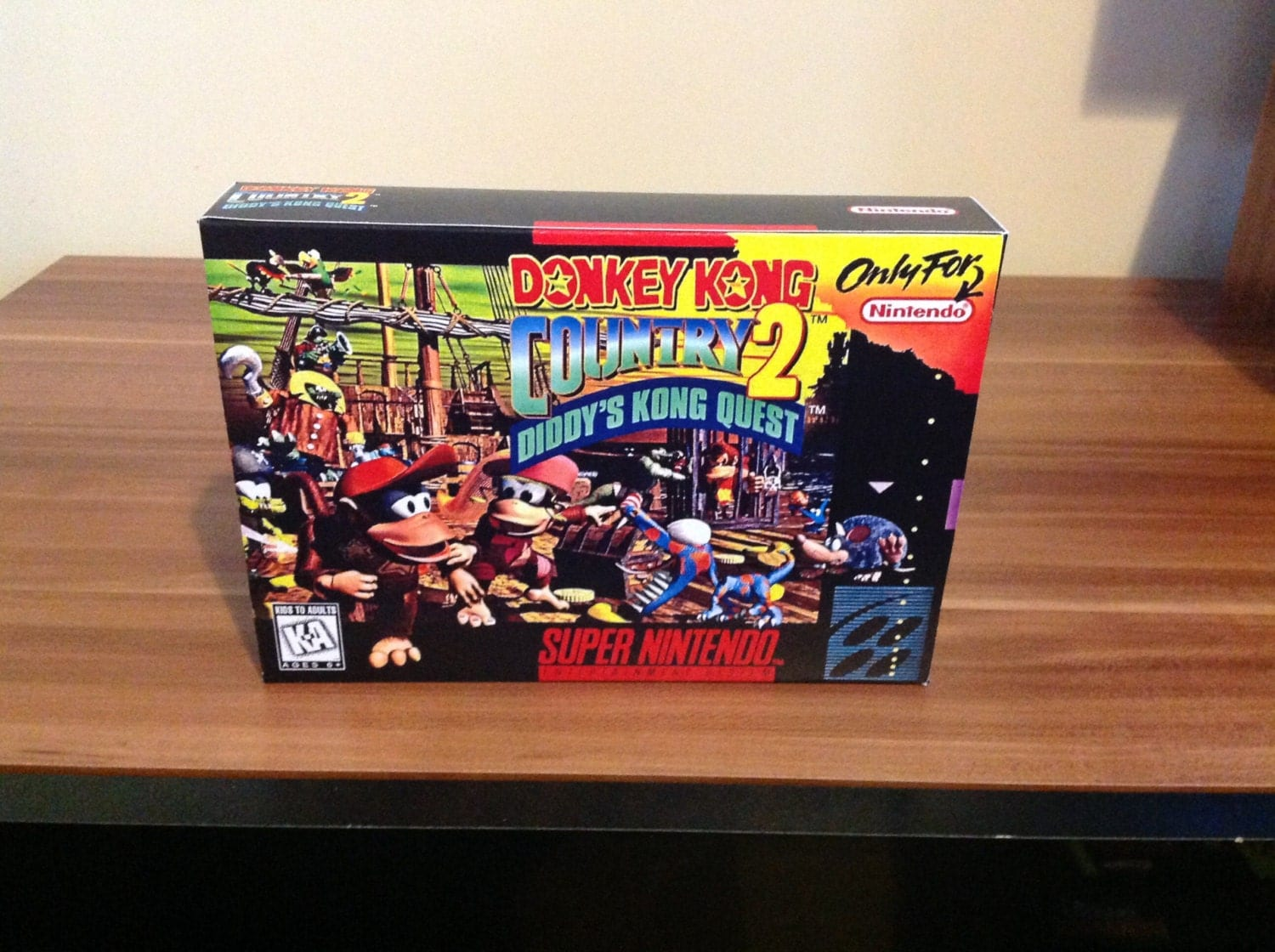 SNES Donkey Kong Country 2  Diddys Kong Quest  Repo Box NO Game Included