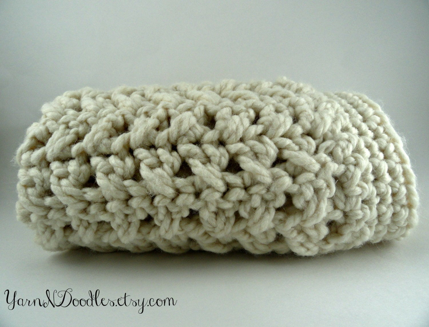 Free Crochet Afghan Pattern Bulky Yarn : Items similar to Super Bulky Textured Crochet Baby Afghan ...