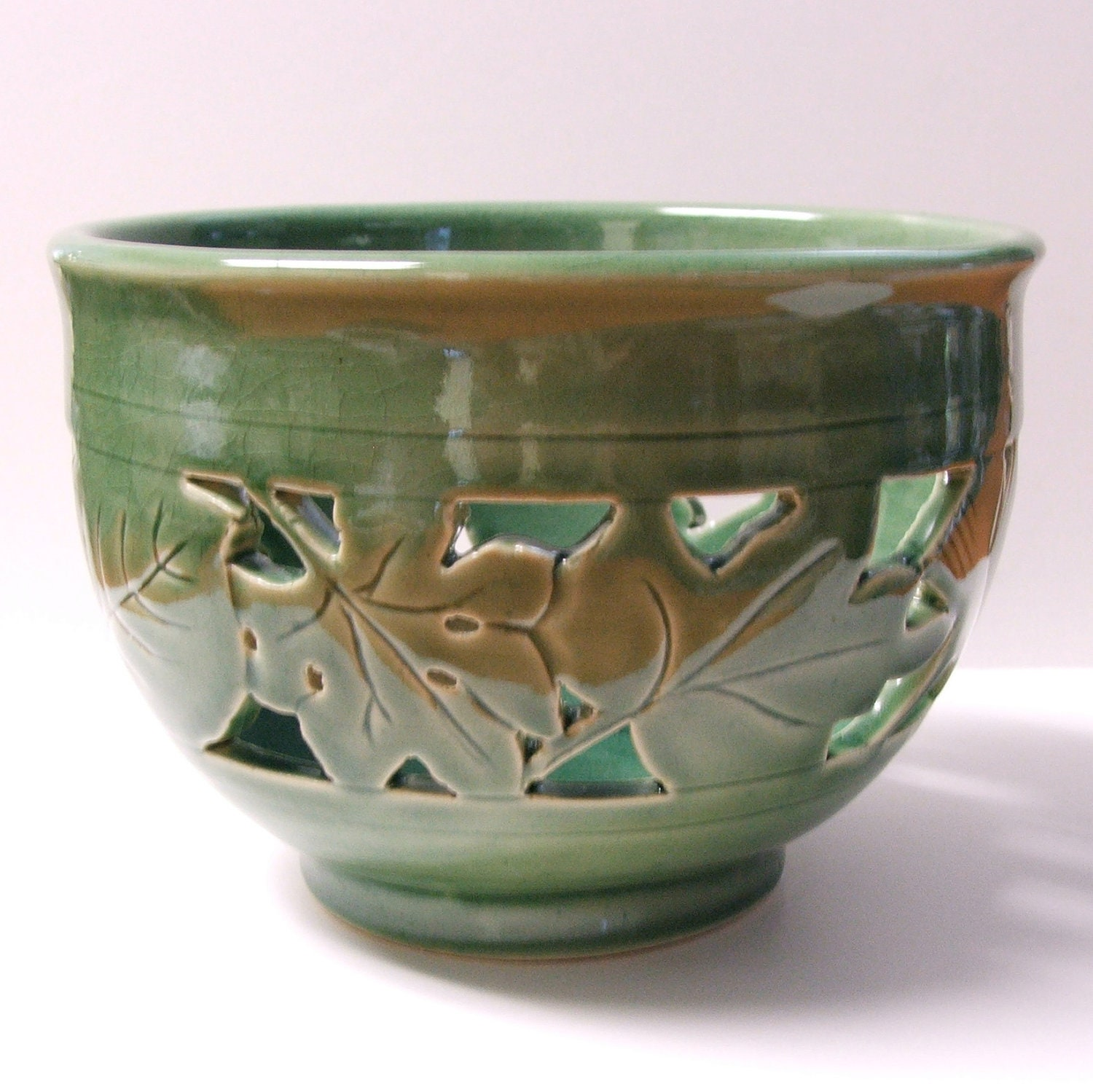Ceramic Hand Carved Bowl Orchid Pot By Potterybysumiko On
