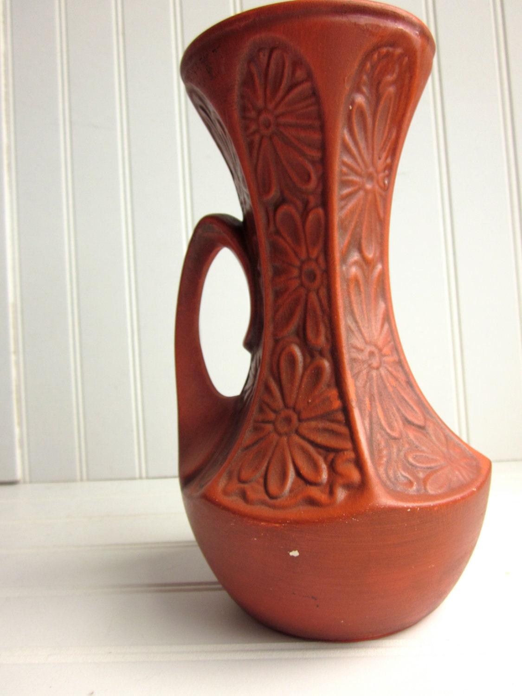 Orange Mccoy Vase Funky 619 Pottery Vase By