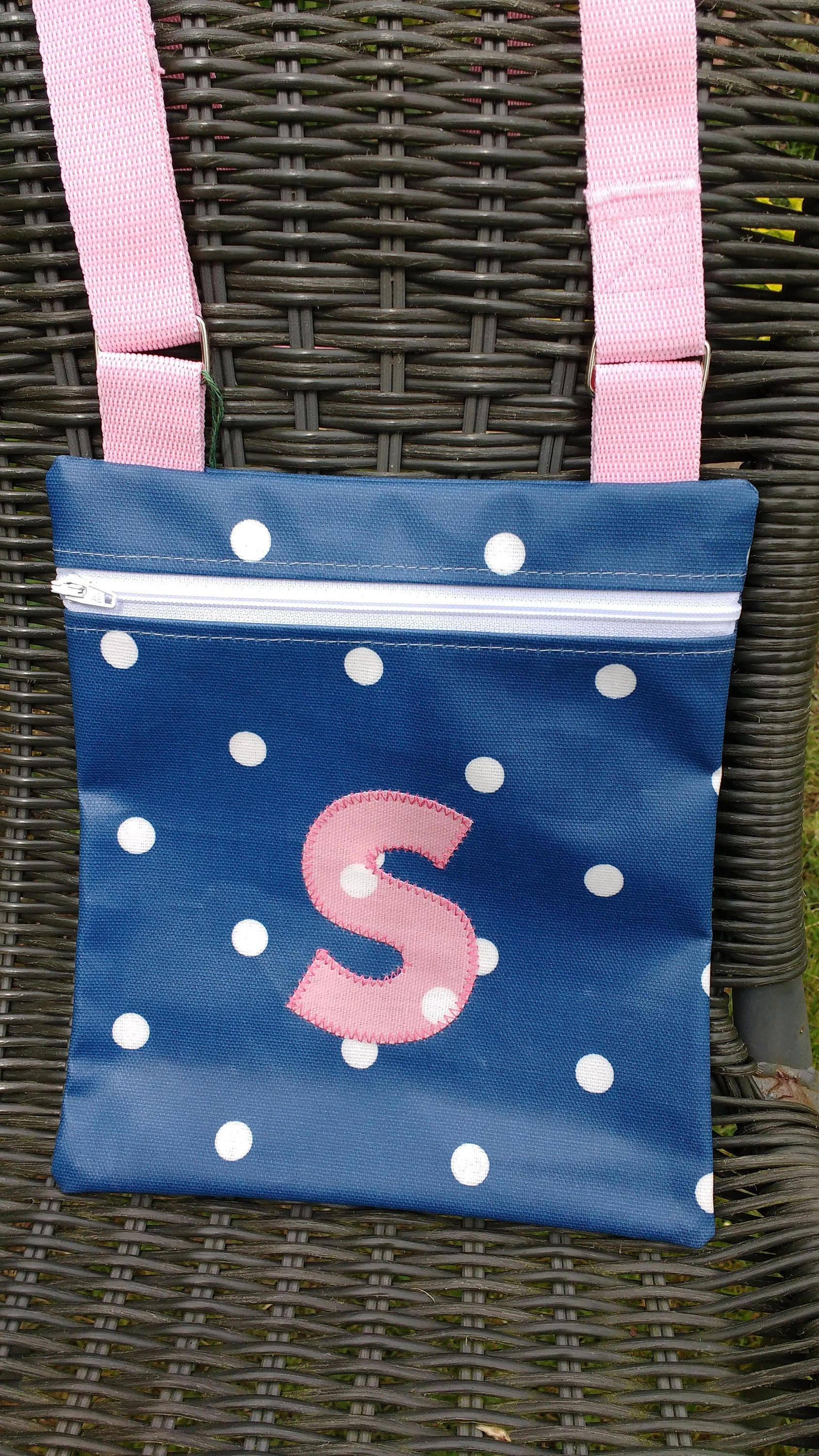 Customised childs cross body bag shoulder bag zip top bag bag for girls available with or without customisation personalised