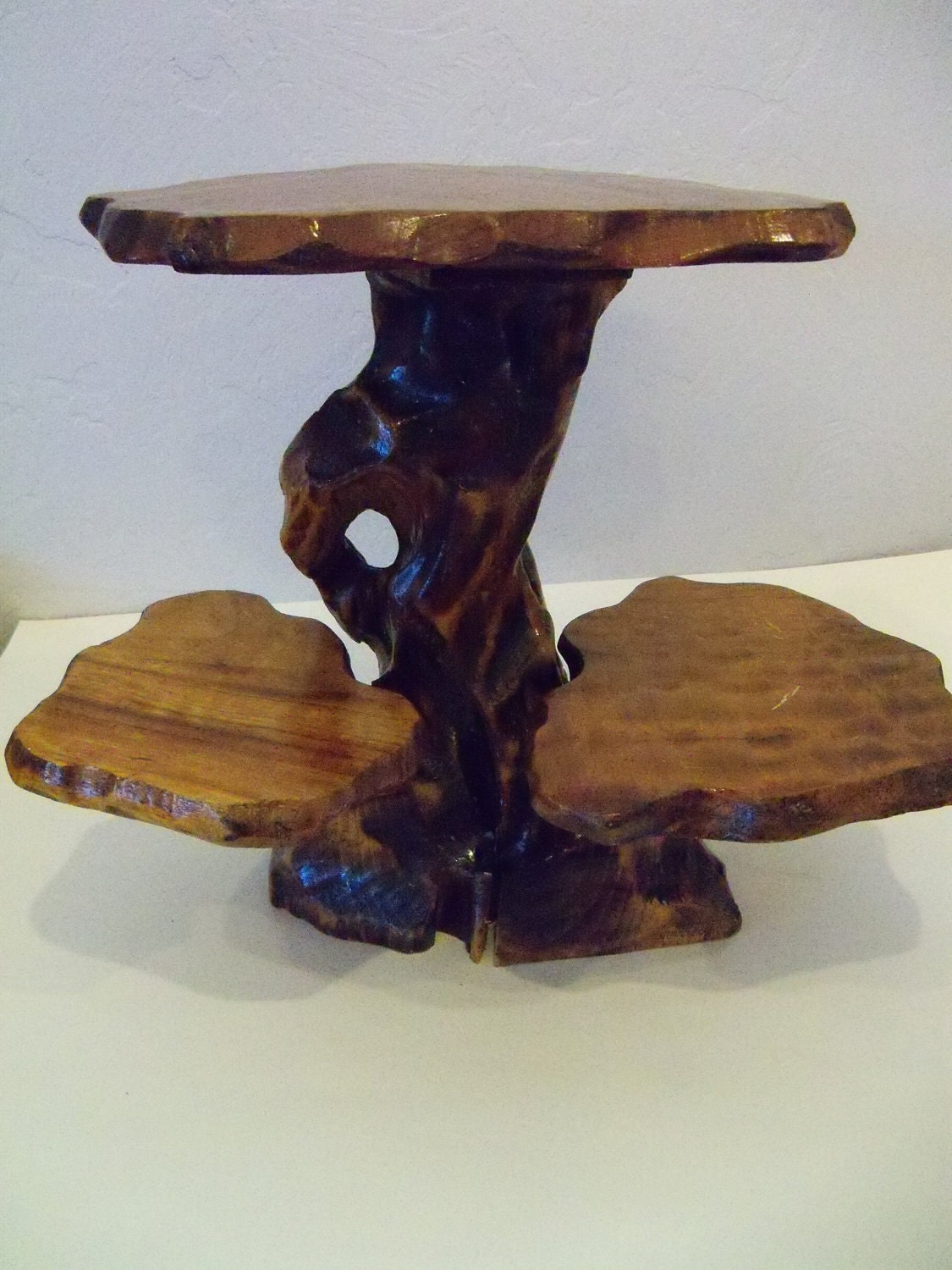Natural Wood Plant Stand Vintage Tree Trunk By