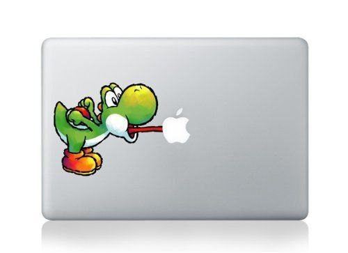 Macbook 11 inch decal sticker colour Yoshi licking Apple art for Apple Laptop