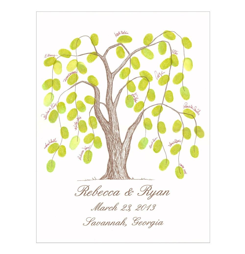thumbprint tree wedding guest book alternative by theinklab