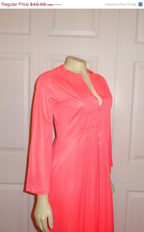 sale vintage dress nightgown hostess dress by