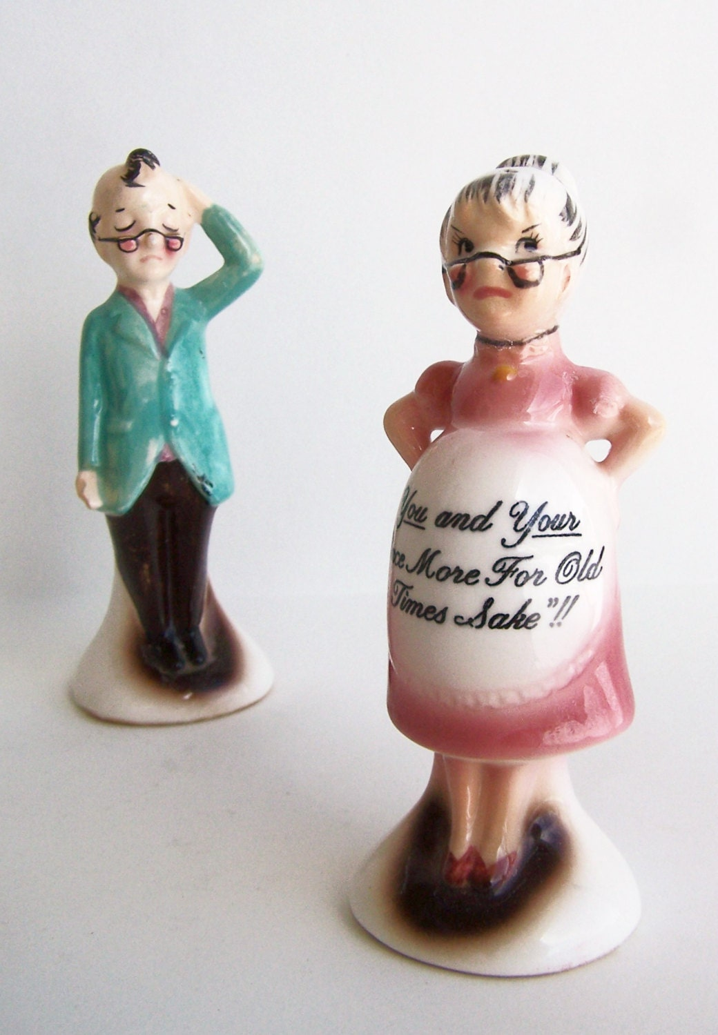 Vintage Salt And Pepper Shakers Enesco Novelty By