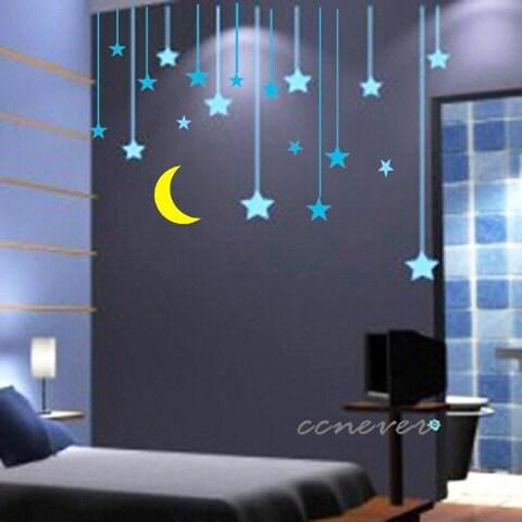 Http Www Etsy Com Listing 62908485 30pcs Stars Moon Kids Nursery Art