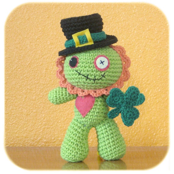 crochet St. Patrick's Day Leprechaun Zombie costume