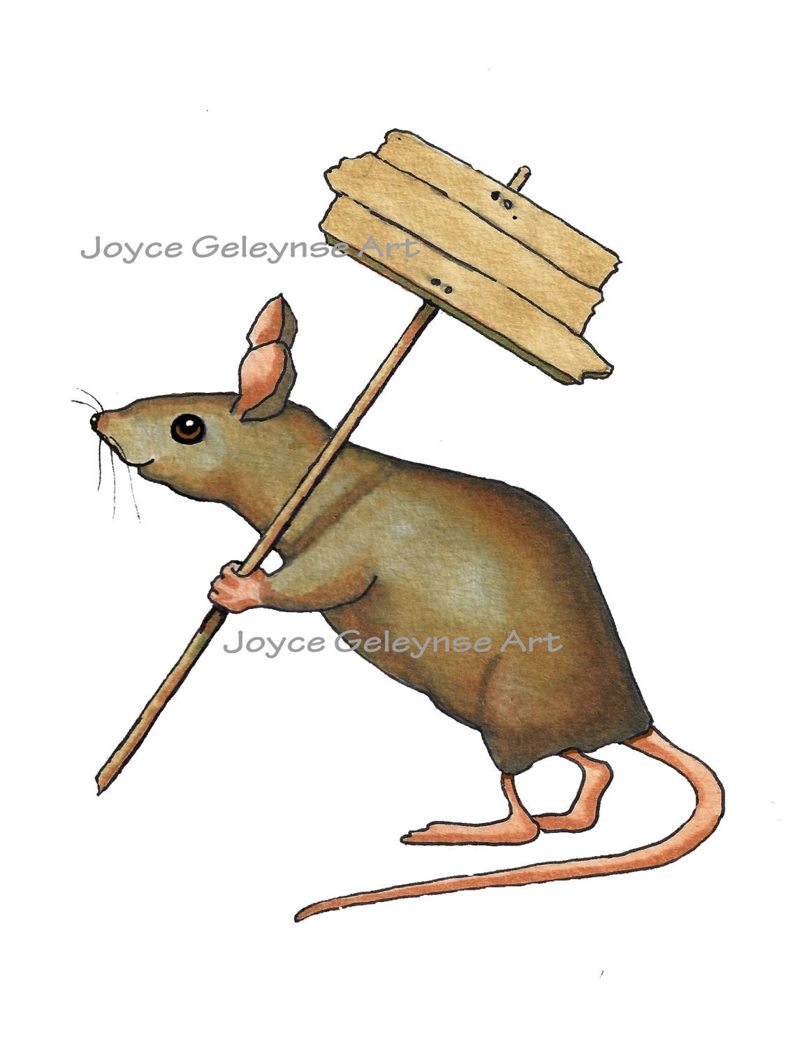 Lab Mouse Clip Art Clip art: mouse carrying sign