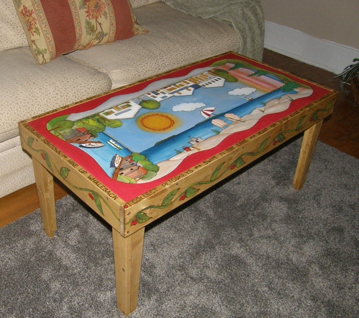 Items similar to Coffee Table Painted furniture Wood