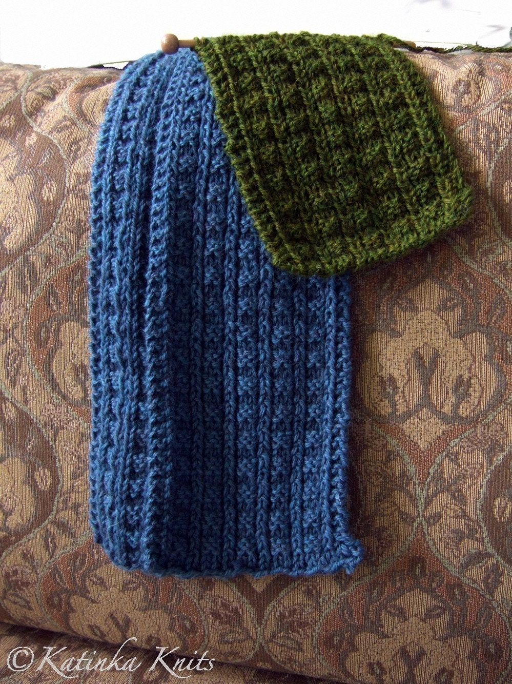 Knitting Pattern Ribbed Scarf : Items similar to Sailors Rib Scarf Knitting Pattern on Etsy